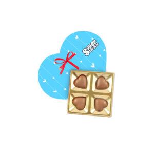 4 czekoladowe serduszka