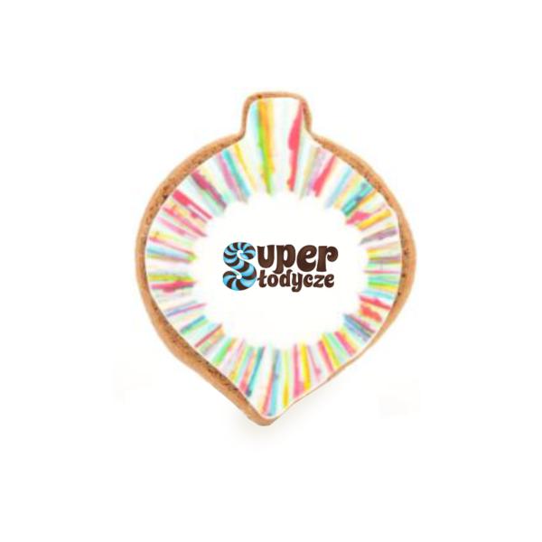 Ciasteczko reklamowe w kształcie bombki - Super Słodycze