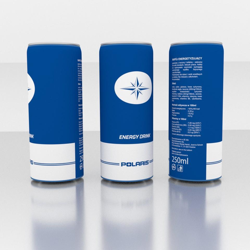 Napój energetyczny z logo Polaris