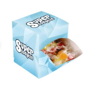 cukierki z logo display