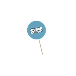 lizak z cukrowym logo