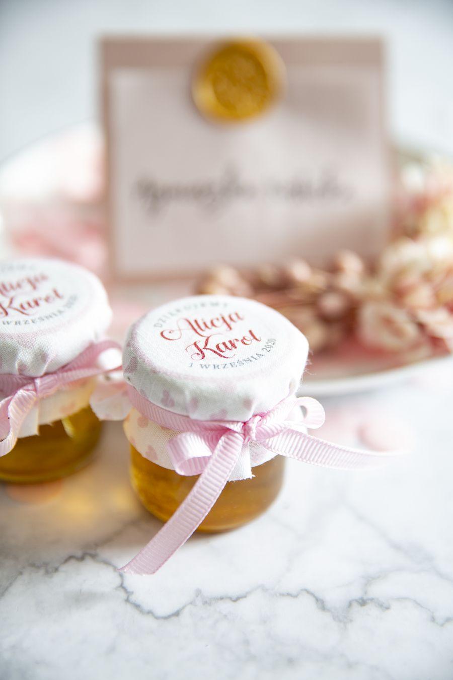 miodki ślubne z podziękowaniami dla gości