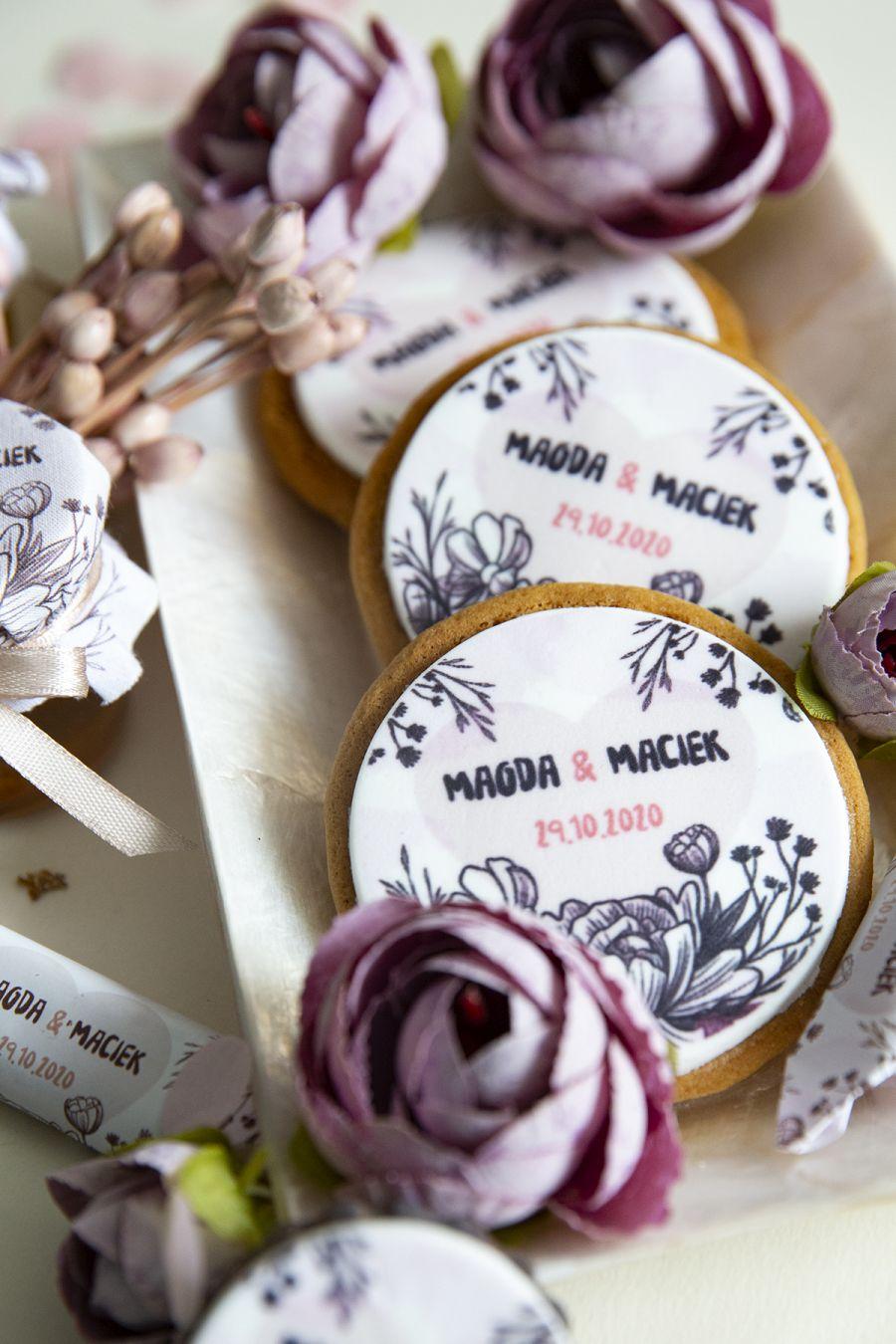 ciasteczka na ślub podziękowania dla gości