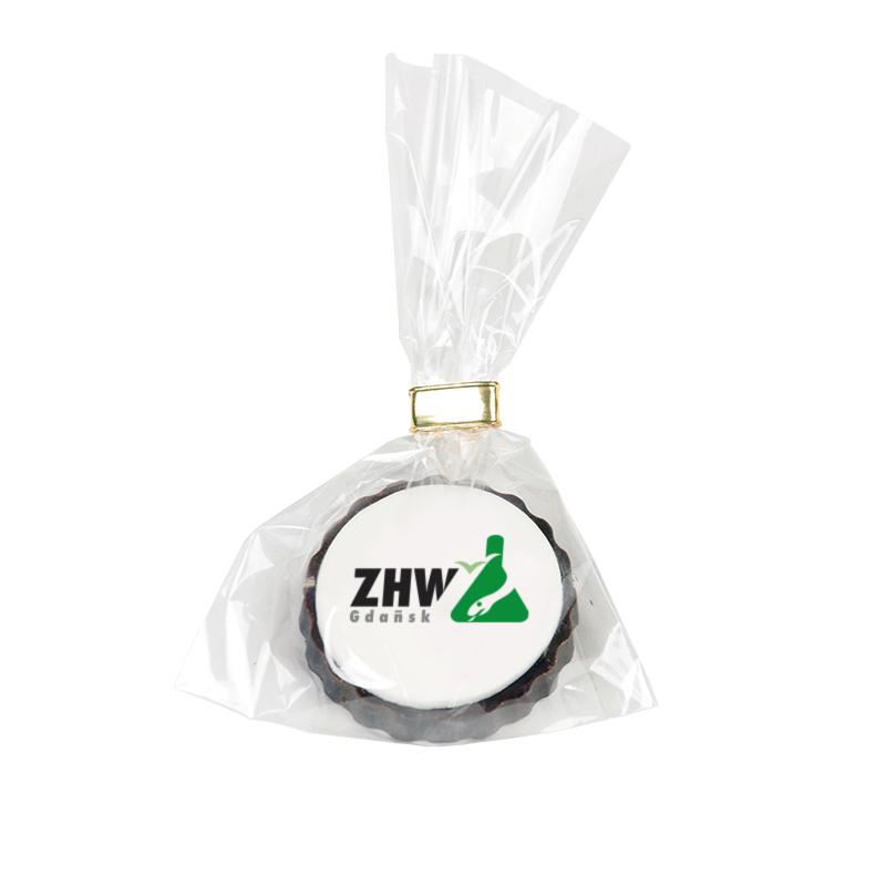 Czekoladki z jadalnym nadrukiem na masie cukrowej z logo ZHW